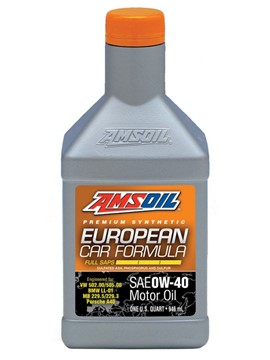 AMSOIL 0W40 European Car Formula Full SAPS 0.946L